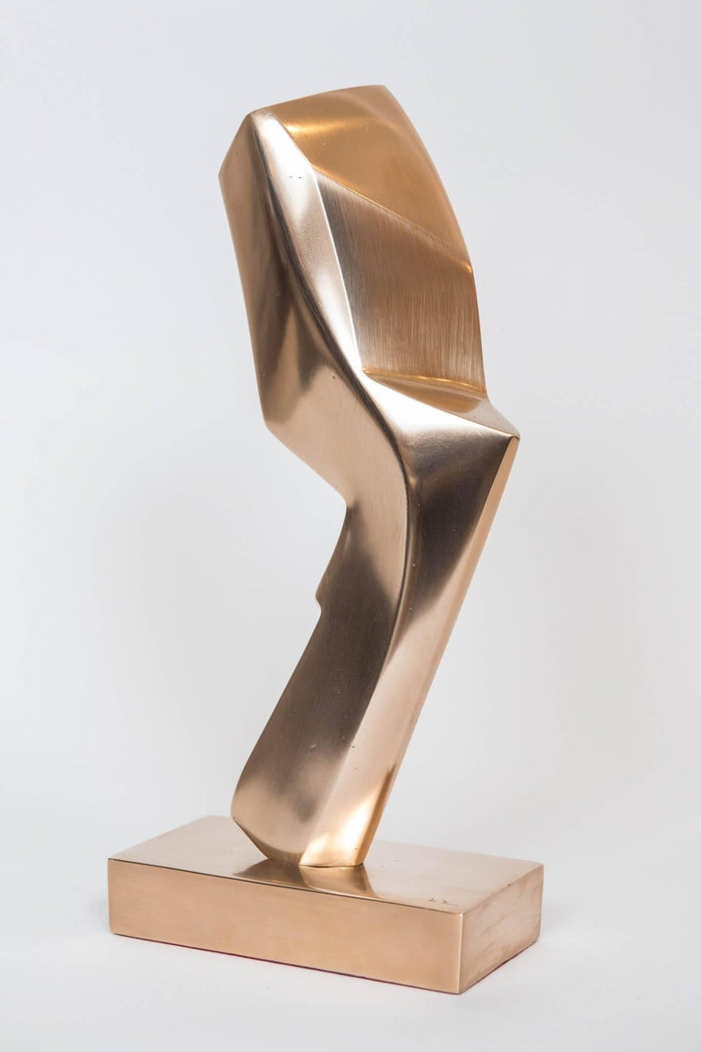 Gilt Bronze Abstract Sculpture by Canadian May Marx 2