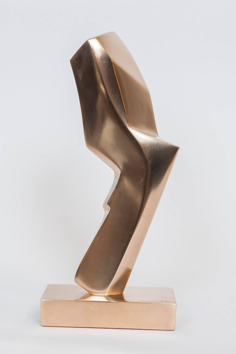 Gilt Bronze Abstract Sculpture by Canadian May Marx 3