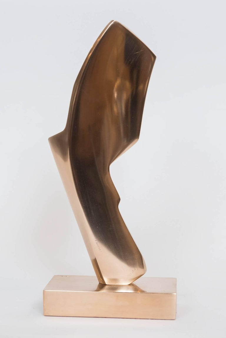 Gilt Bronze Abstract Sculpture by Canadian May Marx 5