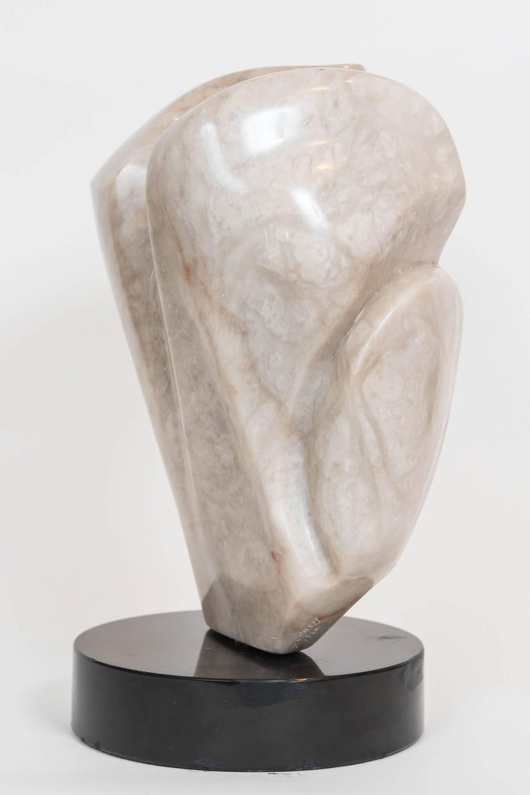 Signed Marble Abstract Sculpture In Excellent Condition For Sale In Toronto, ON