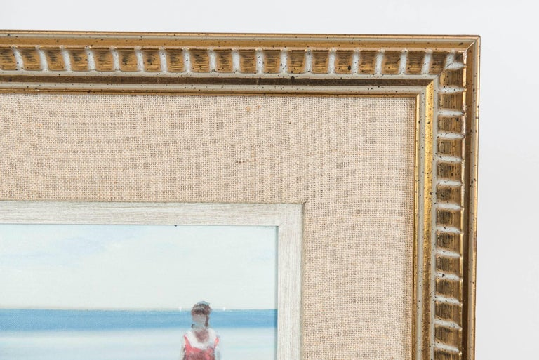 Andre Gisson Beach Scene with Mother and Child, American, circa 1960 In Excellent Condition For Sale In Toronto, ON