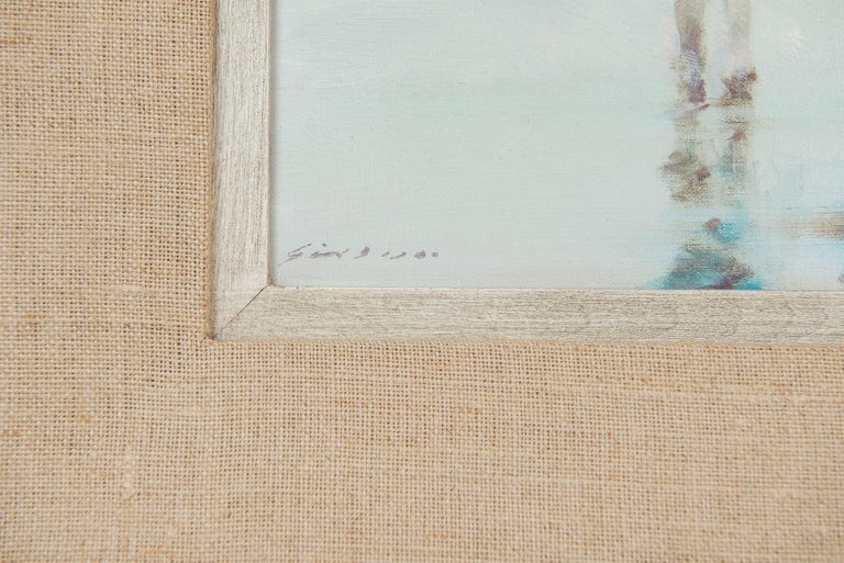 Mid-20th Century Andre Gisson Beach Scene with Mother and Child, American, circa 1960 For Sale