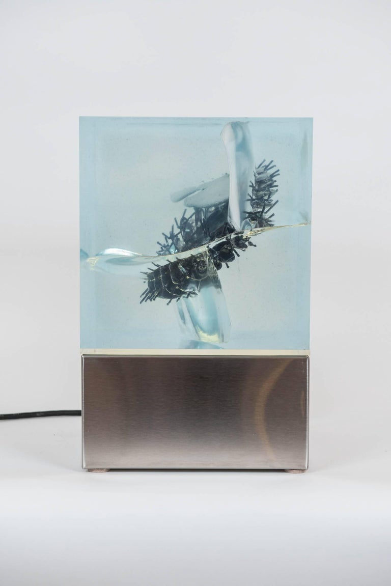 Acrylic Illuminated Sculpture by Canadian Gerald Gladstone For Sale