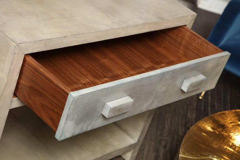 Philippine Pair of Parchment Nightstands For Sale