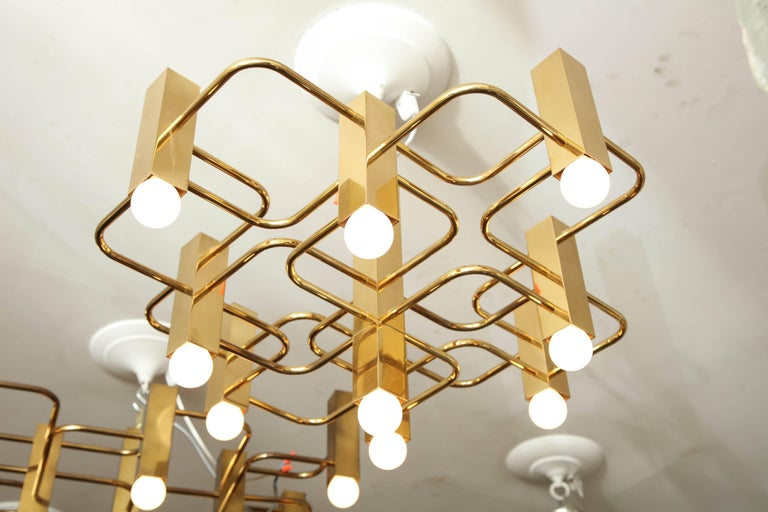 Mid-Century Modern Nine-Arm Sciolari Chandelier Pendant For Sale