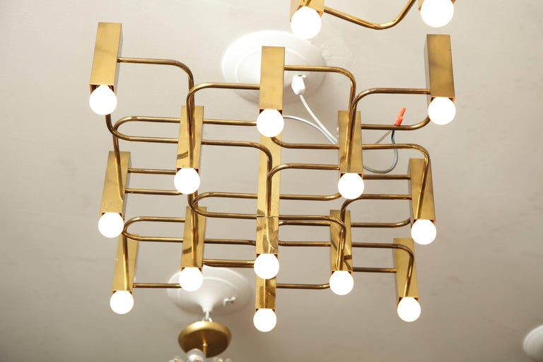 Mid-Century Modern 13-Arm Sciolari Chandelier Pendant For Sale