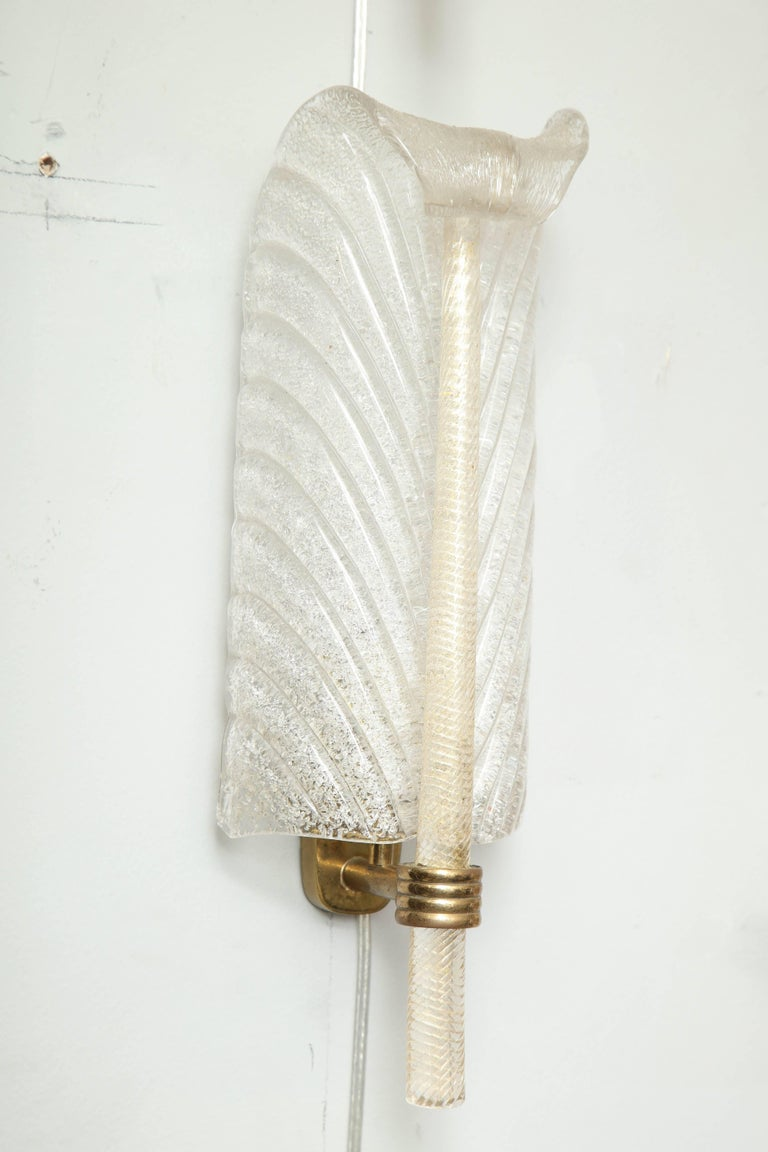 Mid-Century Modern Barovier Feather Sconces For Sale