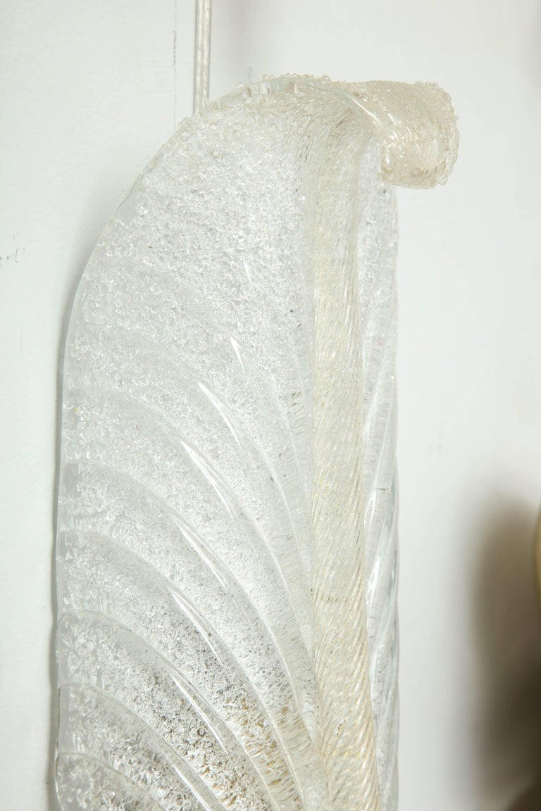 Mid-20th Century Barovier Feather Sconces For Sale