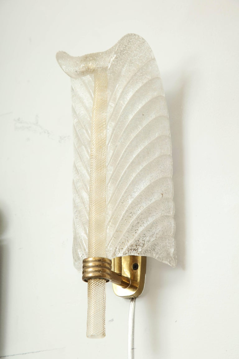 Barovier Feather Sconces For Sale 2