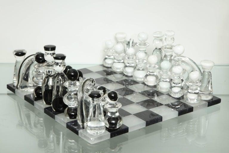 Murano glass chess set.