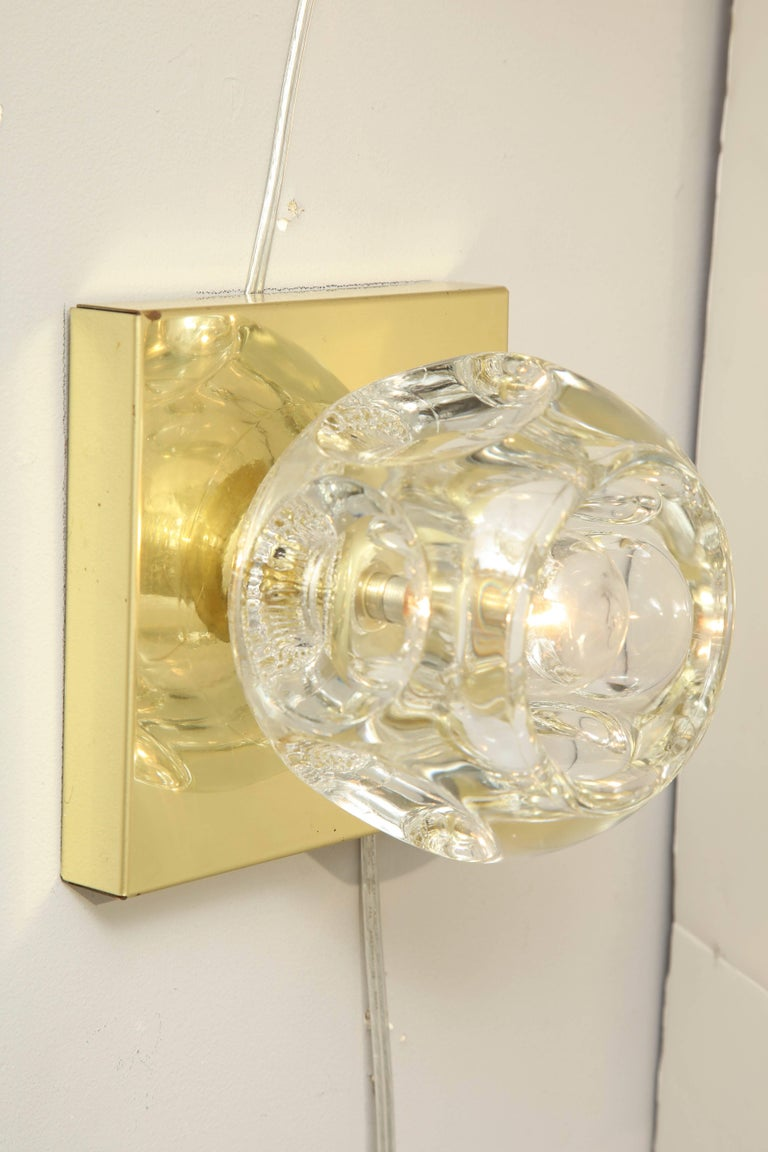 Mid-Century Modern Pair of Peill and Putzler Flush Mount or Sconces For Sale