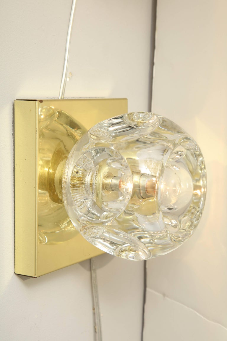 German Pair of Peill and Putzler Flush Mount or Sconces For Sale