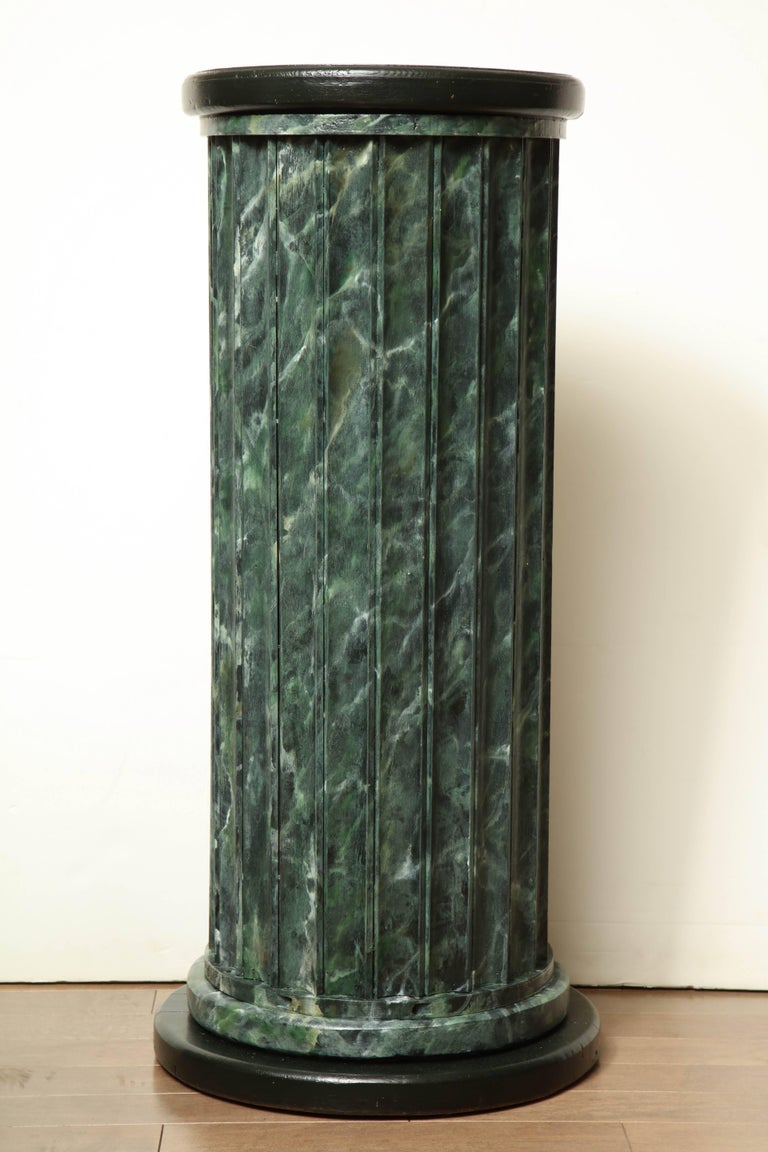 20th Century Faux Marble Statuary Column For Sale 3