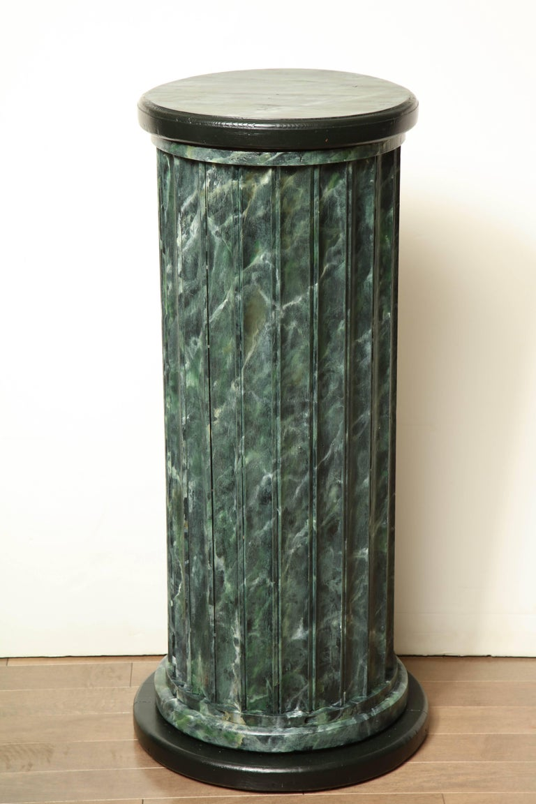 20th Century Faux Marble Statuary Column For Sale 4