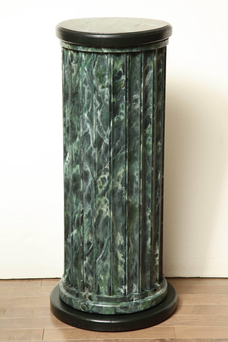 20th Century Faux Marble Statuary Column For Sale 5