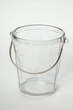 Art Deco Etched Crystal Ice Bucket