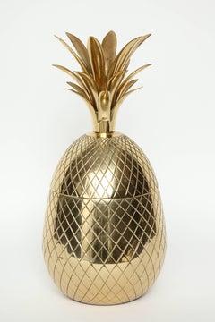 French Mid Century Brass Pineapple Ice Bucket