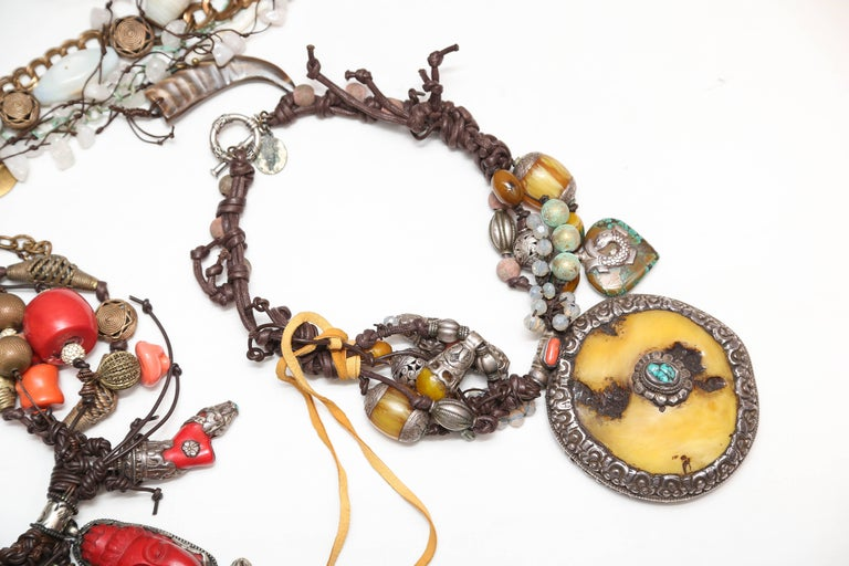 I have seven treasured necklaces form the Marzia Z.collection from the estate of a former clients jewelry collection.
