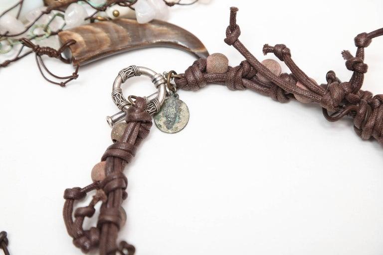 Marzia Z Jewelry Designer, Italy, Unique Necklaces, with Ethnic, Antique Symbols In Excellent Condition For Sale In Miami, Miami Design District, FL