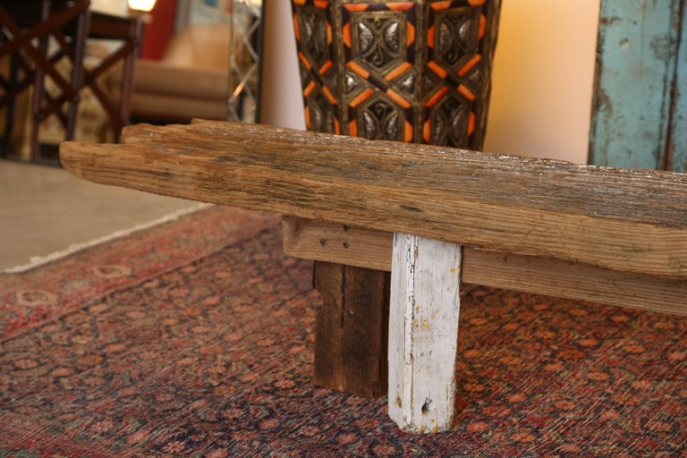 North American HURRICANE,IRMA ,DRIFTWOOD BENCH,Table,CONSOLE,entrance console ,artisan, signed For Sale