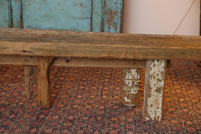 HURRICANE,IRMA ,DRIFTWOOD BENCH,Table,CONSOLE,entrance console ,artisan, signed In Excellent Condition For Sale In Miami, Miami Design District, FL