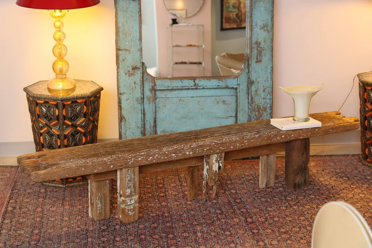 Contemporary HURRICANE,IRMA ,DRIFTWOOD BENCH,Table,CONSOLE,entrance console ,artisan, signed For Sale