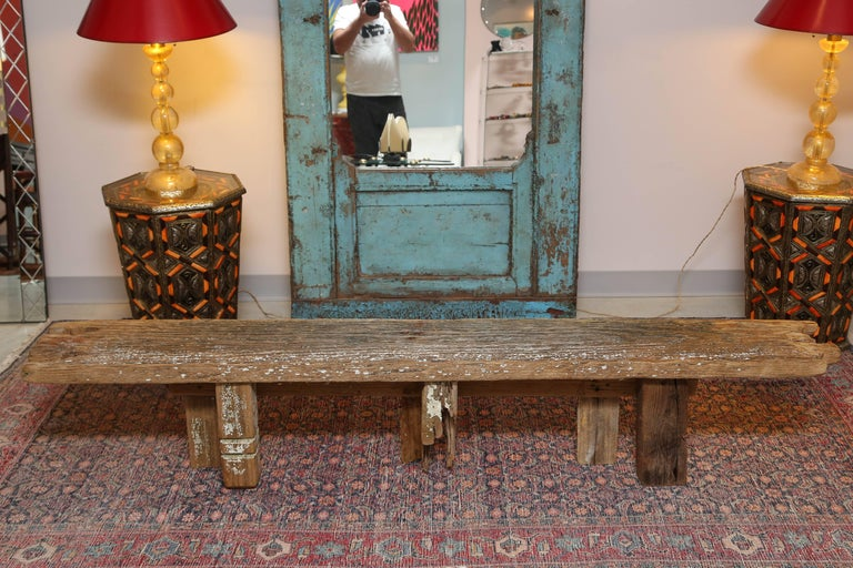 HURRICANE,IRMA ,DRIFTWOOD BENCH,Table,CONSOLE,entrance console ,artisan, signed For Sale 3