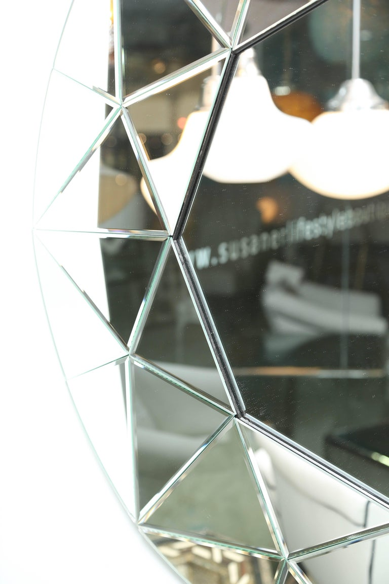 Modern SALE!SALE!SALE!  MIRROR,ROUND BEVELED LARGE Elegant, Contemporary  was $2500 For Sale