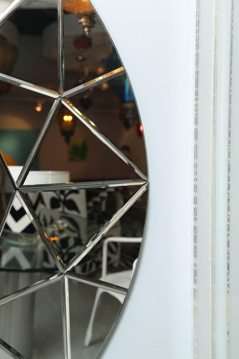 North American SALE!SALE!SALE!  MIRROR,ROUND BEVELED LARGE Elegant, Contemporary  was $2500 For Sale
