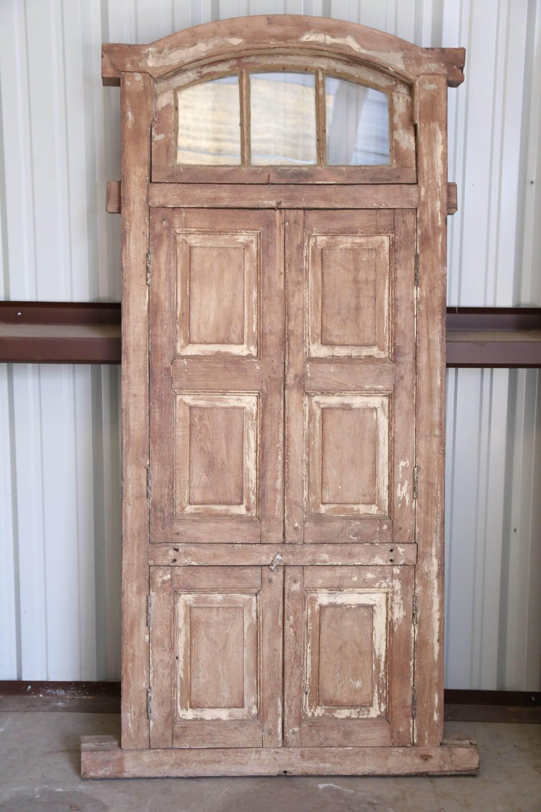 Teak Early 19th Century Ornate Window from a Portuguese Colonial Church For Sale