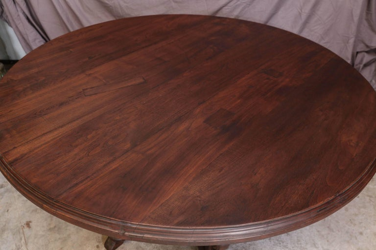 1920s Solid Teak Wood Round Entertainment Table From A Himalayan Valley Plantion