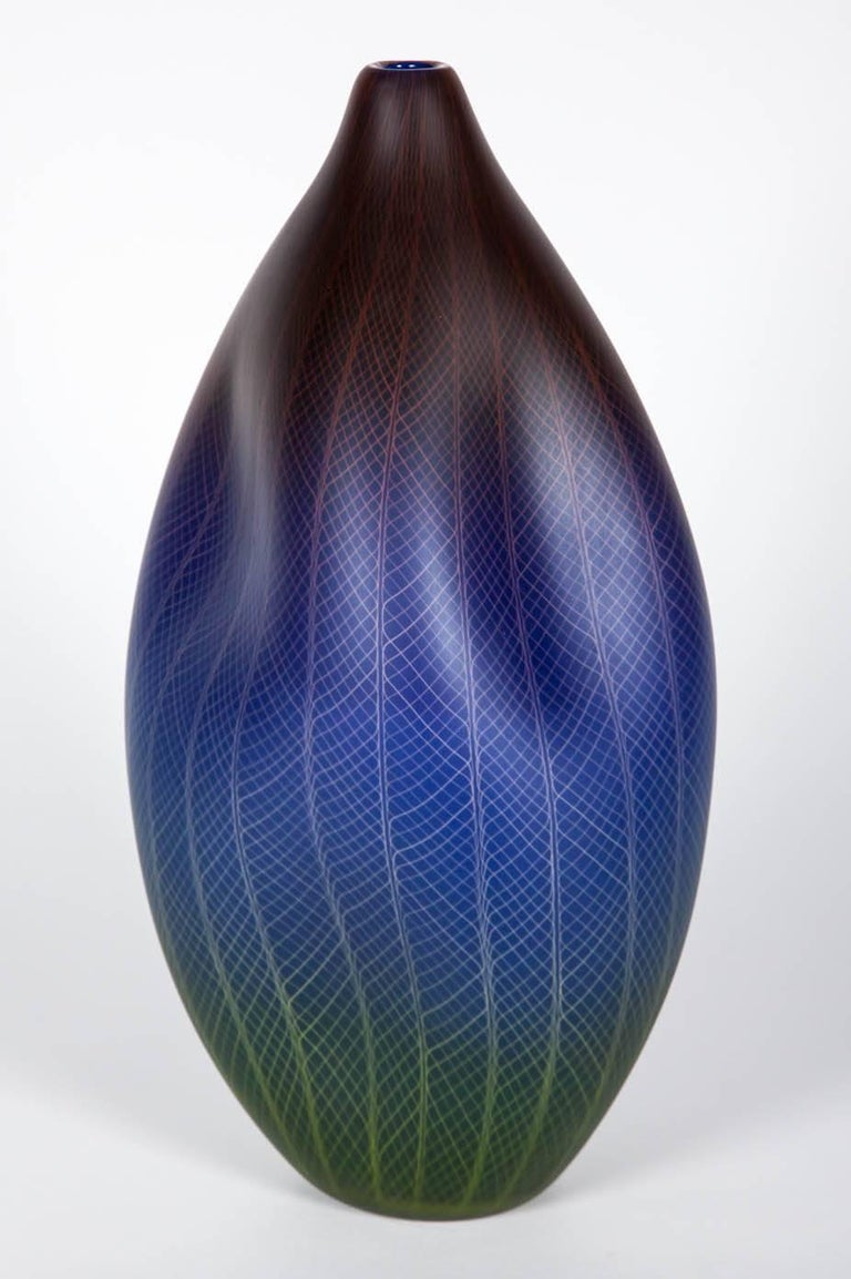 Blown Glass Polychromatic Interleave 001 For Sale