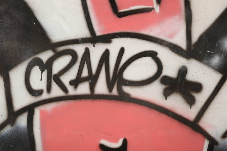 Painted Graffiti Painting Signed Crane Spray Paint Fun Gallery, 1980s For Sale