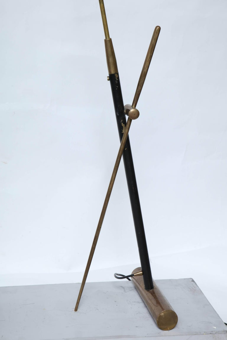 Mid-Century Modern Articulated floor Lamp signed Lyon JP Vincent France 1950's