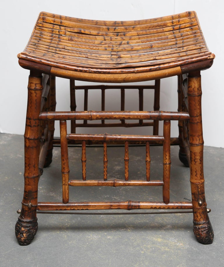 "English 19th Century Bamboo ""Thebes"" Bench For Sale"
