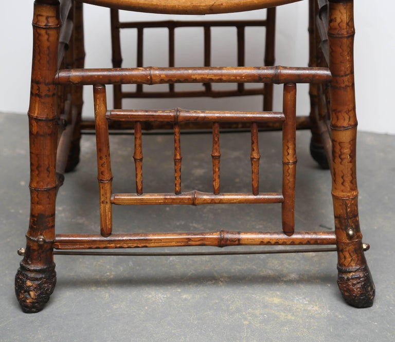 "19th Century Bamboo ""Thebes"" Bench In Good Condition For Sale In West Palm Beach, FL"