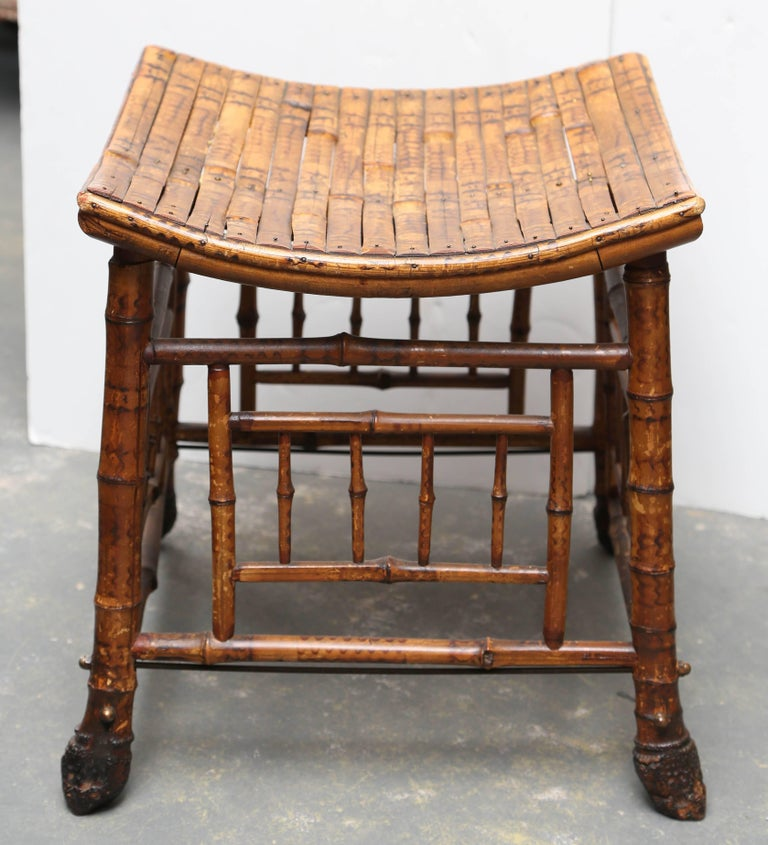 "19th Century Bamboo ""Thebes"" Bench For Sale 1"