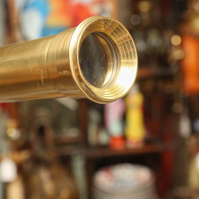 Brass Telescope with Stand Signed Ross, London For Sale 1
