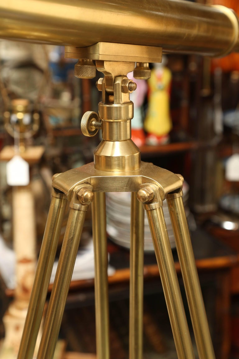 Brass Telescope with Stand Signed Ross, London 9