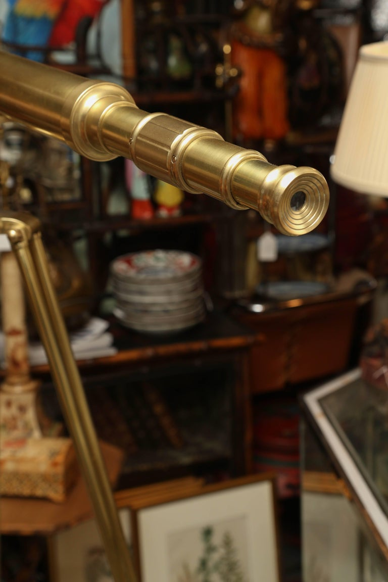 Brass Telescope with Stand Signed Ross, London 10