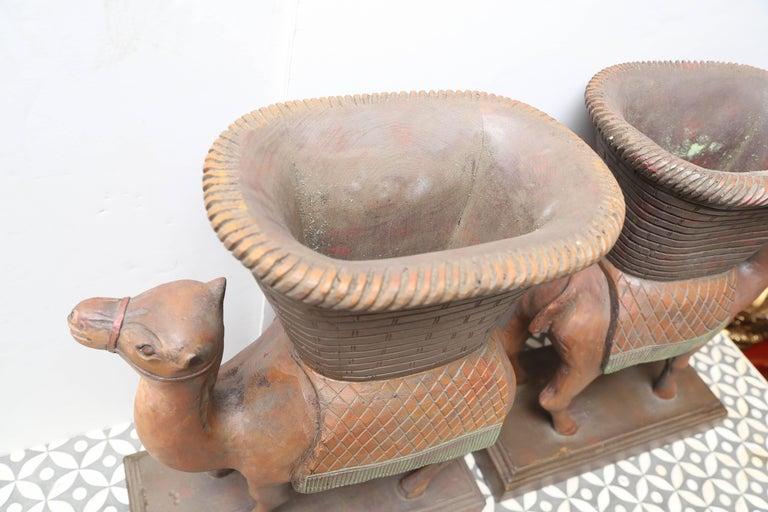 Superb Pair of Anglo-Indian Camel Form Jardinières 6