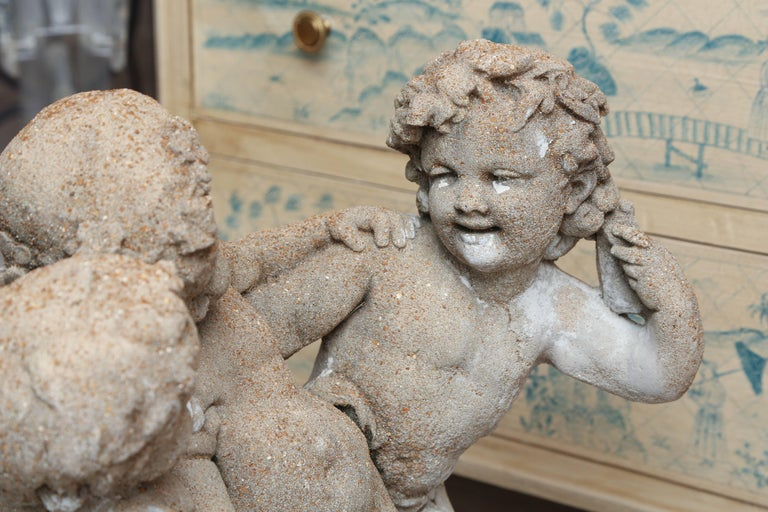 Late 19th Century French Frolicking Putti Statue In Good Condition For Sale In West Palm Beach, FL