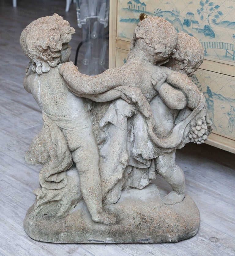 Late 19th Century French Frolicking Putti Statue For Sale 2
