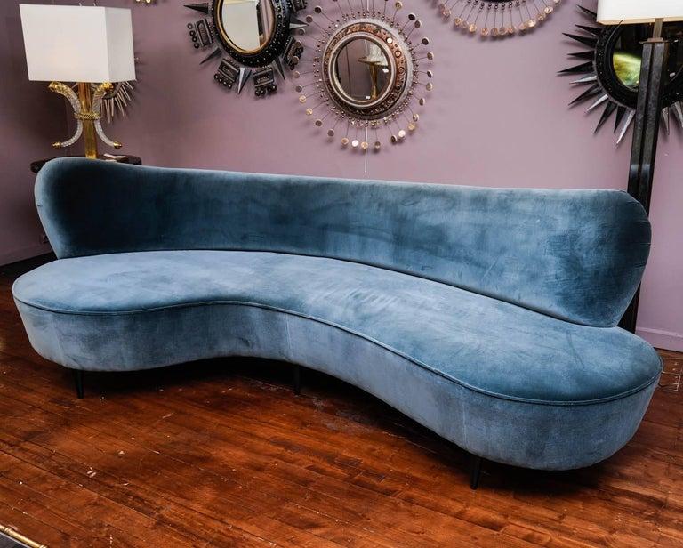 Modern Curved Vintage Sofa For Sale