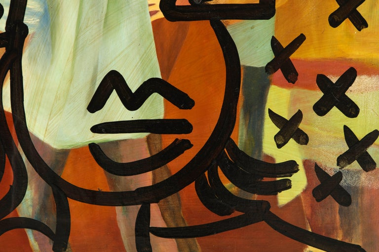 Painting by Peter Keil, Mid-Century Modern Art, circa 1977, Fall Colors In Good Condition For Sale In New York, NY