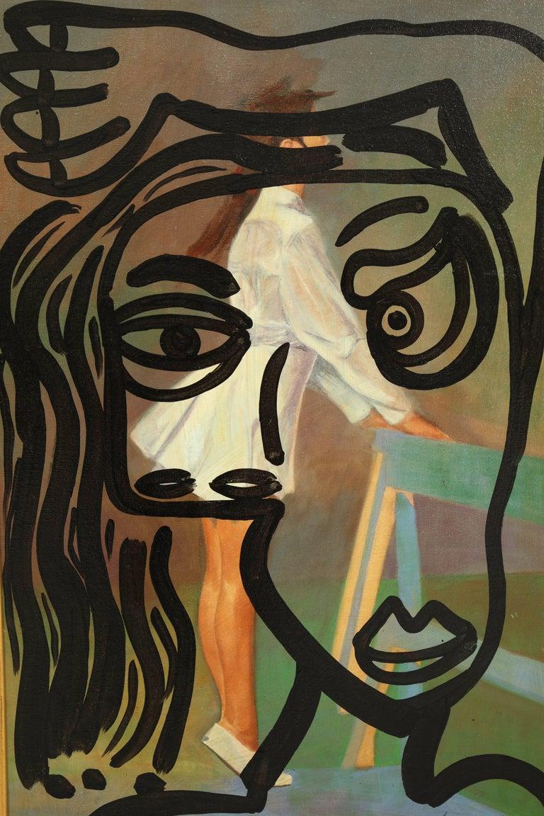 German Painting by Peter Keil, Midcentury, Modern Art, 1977, Fall Colors, Oil For Sale