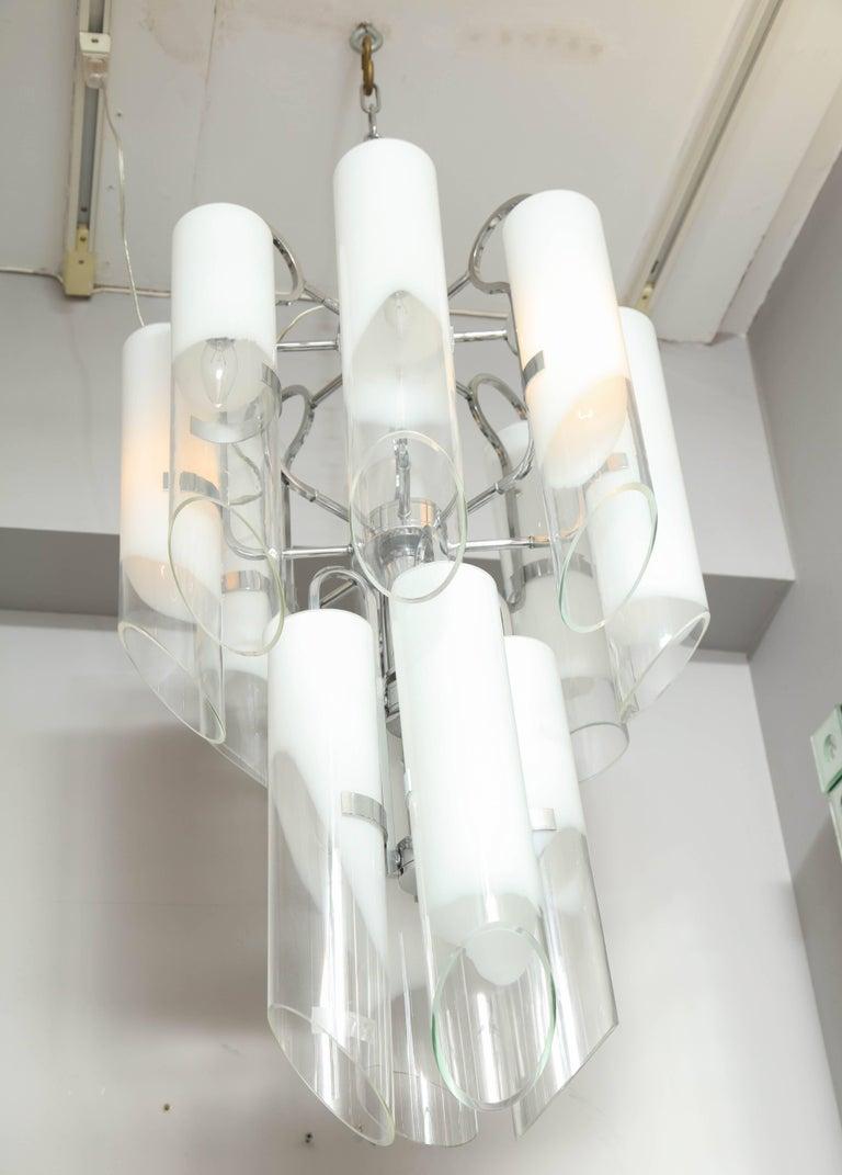 White Tubular Mazzega Fixture For Sale 1