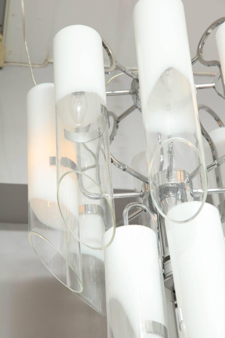 White Tubular Mazzega Fixture For Sale 3