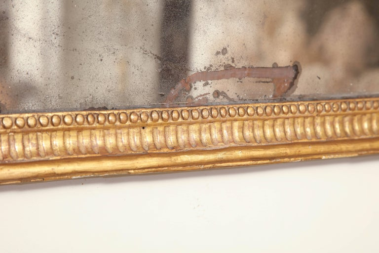 Wood George III Giltwood over Mantel Mirror For Sale
