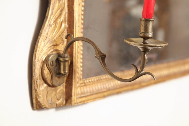 George III Giltwood over Mantel Mirror For Sale 2